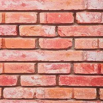 Wallpaper - Walls Need Love Brick Removable Wallpaper I Urban Outfitters - brick patterned wallpaper, red brick wallpaper, removable brick pattern wallpaper,