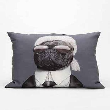 Pillows - Fashion Designer Pillow I Urban Outfitters - pug pillow, modern pug pillow, contemporary dog pillow, dog portrait pillow,