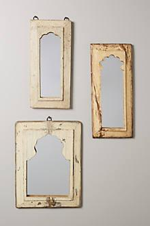 Mirrors - Archway Mirror I Anthropolige - arched wood mirror, reclaimed wood mirror, whitewashed arched mirror,
