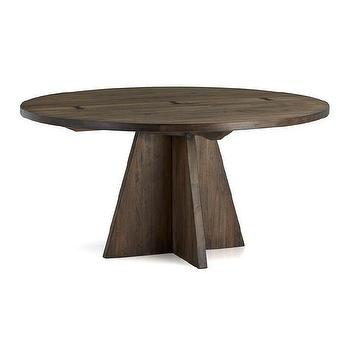 "Tables - Monarch 60"" Round Dining Table I Crate and Barrel - round walnut dining table, modern walnut dining table, butterfly joint dining table, solid walnut dining table,"