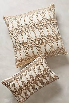 Pillows - Shimmered Nescio Pillow I Anthropologie - gold sequinned pillow, patterned sequin pillow, gold and ivory pillow,