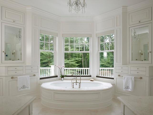 Bay window bathtub transitional bathroom brooks for Bay window bathroom ideas
