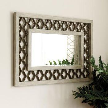Mirrors - Trellis Mirror I Ballard Designs - quatrefoil framed mirror, trellis framed mirror, quatrefoil framed mirror,