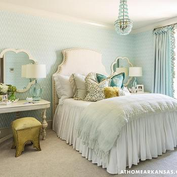 Turquoise Bedroom, Transitional, girl's room, At Home in Arkansas