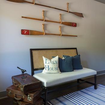 Cane Back Bench, Cottage, entrance/foyer, At Home in Arkansas