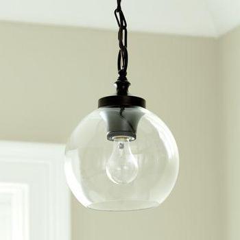 Lighting - Sienna 1-Light Pendant I Ballard Designs - glass sphere pendant light, glass globe pendant light, utilitarian pendant light,