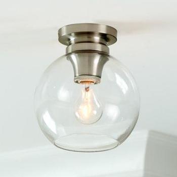 Lighting - Sienna 1-Light Ceiling Mount I Ballard Designs - glass sphere ceiling mount pendant, glass globe flush mount pendant, glass ceiling mount pendant light,