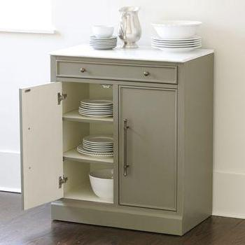 Storage Furniture - Paulette Cabinet I Target - taupe cabinet, taupe cabinet with marble top, taupe kitchen cabinet, freestanding marble topped cabinet,