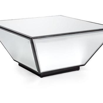 Tables - Oslo Square Wedge Coffee Table | Z Gallerie - mirrored coffee table, mirrored square coffee table, modern mirrored coffee table,