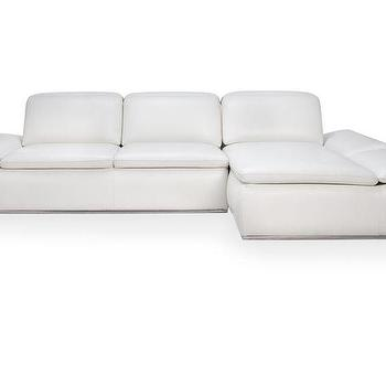 Seating - Boulevard Sectional | Z Gallerie - modern white leather sectional, white leather sectional, modern white sectional sofa,