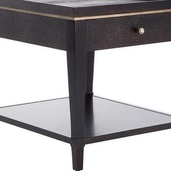 Storage Furniture - Hayden End Table | Z Gallerie - black faux croc end table, faux croc nightstand, black faux crocodile end table,