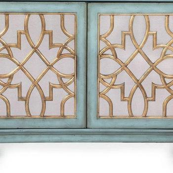 Storage Furniture - Marie Cabinet | Z Gallerie - blue mirror front cabinet, blue and gold mirrored cabinet, filigree front mirrored cabinet,