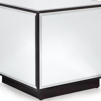 Tables - Oslo Cube End Table | Z Gallerie - mirrored cube, mirrored cube end table, modern mirrored side table,