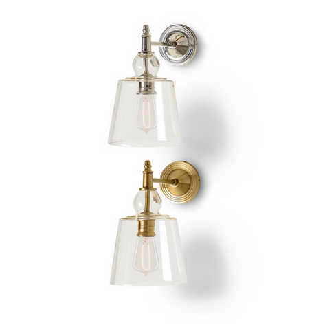 Barbara Cosgrove Sconce with Glass Shade