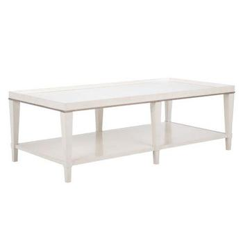 Tables - Hayden Coffee Table | Z Gallerie - white faux croc coffee table, white faux crocodile coffee table, white coffee table with gold trim,