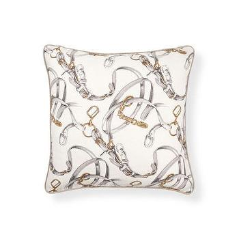 Pillows - Bridles-Print Pillow | ZARA HOME - gray bridle print pillow, horse bridle pillow, bridle patterned pillow,