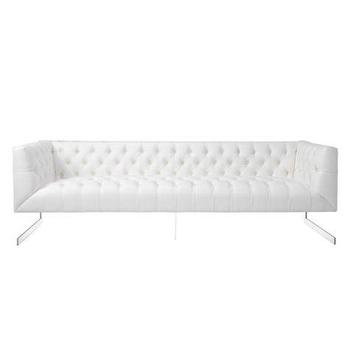 Seating - Skyler Sofa | Z Gallerie - stainless steel white tufted sofa, modern white tufted sofa, white button tufted sofa,