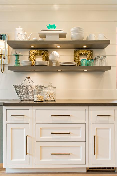 Floating Kitchen Shelves Transitional
