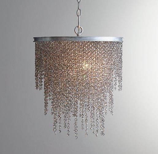 Chandelier Smoke I RH Baby And Child Smoked Crystal Chandelier