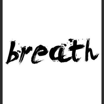 Art/Wall Decor - Breath Print | Luciana - breath art print, handmade print, brush stroke words print, minimal print, black with white print