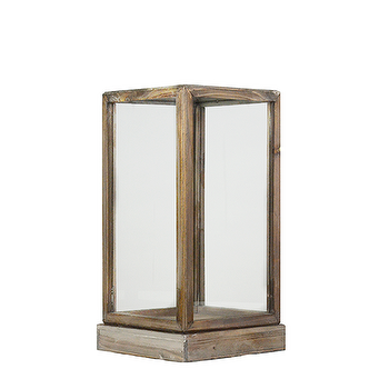 Decor/Accessories - SMALL WOOD & GLASS DISPLAY BOX, $50 - Feathered - small wood display box, distressed wood display box, wood with glass display box