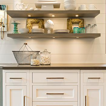 Floating Kitchen Shelves, Transitional, kitchen, Elizabeth Kimberly Design