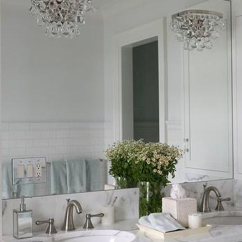 Foley & Cox - bathrooms - master bath, master bath ideas, master bathroom ideas, gorgeous bathrooms, robert abbey sconce, bling wall sconce, his and her sinks, double washstand, double vanity, double sink vanity, oval sinks, oval vanity sinks, glass hardware, glass vanity pulls, glass vanity hardware, bathroom sconces,