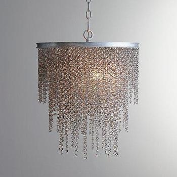 Lighting - Athena Crystal Chandelier Smoke I RH Baby and Child - smoked crystal chandelier, gray crystal chandelier, smoked beaded crystal chandelier,
