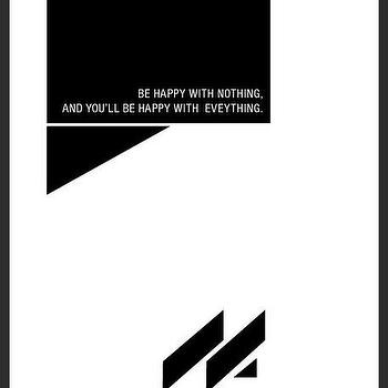 Art/Wall Decor - Be Happy Print | Luciana - be happy print, handmade print, minimal design print, print with quote, black with white print