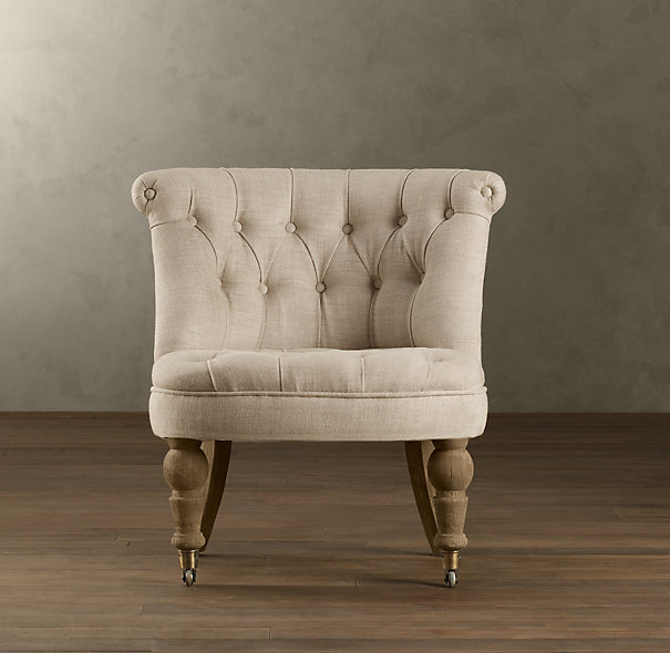 Restoration Hardware Sophie Tufted Slipper Chair Look 4 Less