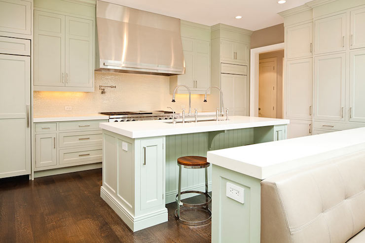 Pastel green kitchen cabinets Kitchen cabinets light green