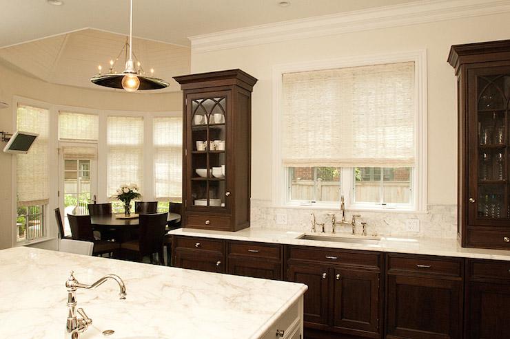 Dark Brown Kitchen Cabinets - Transitional - kitchen ...