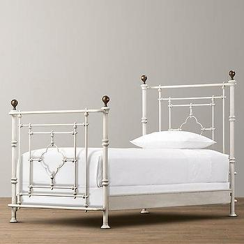 Beds/Headboards - 19th C. Quatrefoil Iron Bed I RH Baby and Child - quatrefoil bed, quatrefoil iron bed, gothic quatrefoil bed,