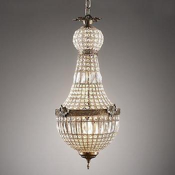 Lighting - French Regency Large Crystal Pendant I RH Baby and Child - french regency chandelier, french regency crystal chandelier, french crystal pendant light,