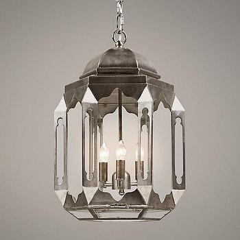 Lighting - Marrakesh Pendant Pewter I RH Baby and Child - marrakesh pendant light, moroccan pendant light, metal moroccan pendant, moroccan lantern pendant,