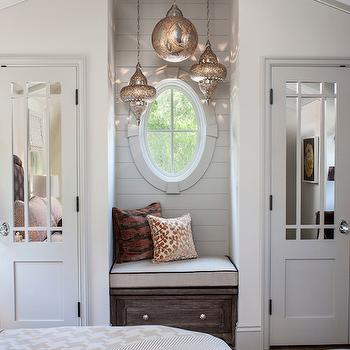 Window Seat Nook, Transitional, bedroom, Norman Design Group