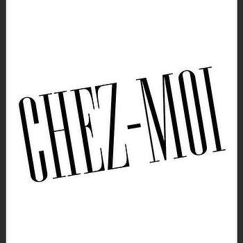 Art/Wall Decor - Chez-Moi Print   Luciana - chez moi print, black with white print, handmade print, minimal print, black typeface print