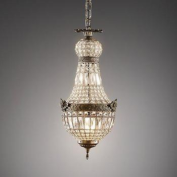 Lighting - French Regency Small Crystal Pendant I RH Baby and Child - french regency pendant light, french crystal chandelier, french regency style chandelier,
