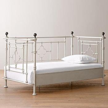 Beds/Headboards - 19th C. Quatrefoil Iron Daybed I RH Baby and Child - iron quatrefoil daybed, quatrefoil daybed, gothic quatrefoil daybed,