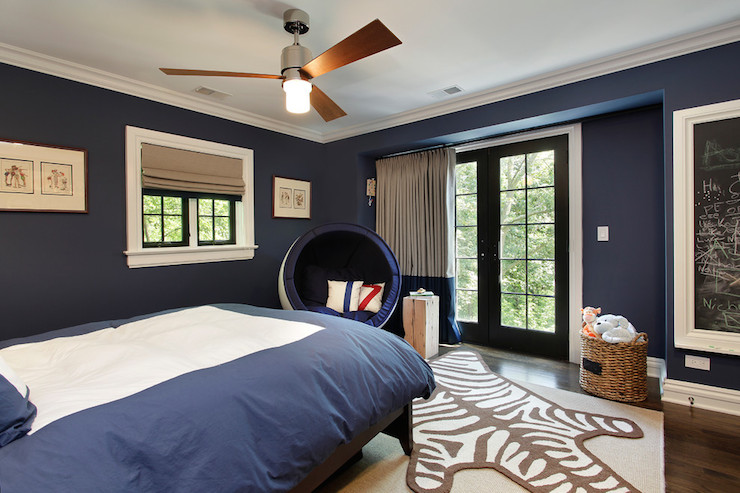 Navy Kids Room Transitional Boy S Room Benjamin
