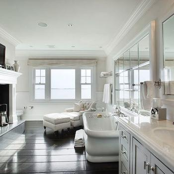 Fireplace in Bathroom, Transitional, bathroom, Corcoran