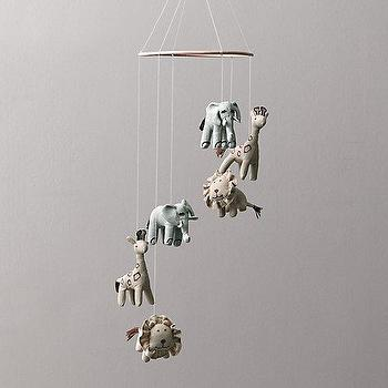Decor/Accessories - Chambray Animal Mobile I RH Baby and Child - animal mobile, safari animal mobile, zoo animal mobile,