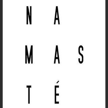 Art/Wall Decor - Namaste Art Print | Luciana - namaste art print, minimal print, black white print, typography print, unique handmade print