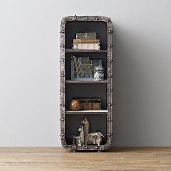Storage Furniture - Montgomery Iron Bookcase - Medium I RH Baby and Child - iron rivet bookcase, industrial iron bookcase, kids industrial bookcase,