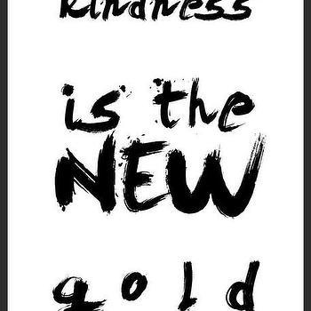 Art/Wall Decor - Kindness Print | Luciana - quote print, kindness print, typography handmade print, brush stroke print, minimal print, black white print