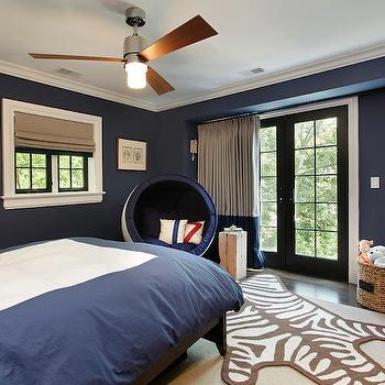 Navy Kids Room, Transitional, boy's room, Benjamin Moore Van Deusen Blue, 2 Design Group