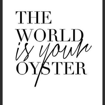 Art/Wall Decor - Oyster Print | Luciana - quote print, black white print, typography print, handmade print, oyster print