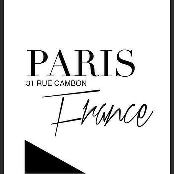 Art/Wall Decor - Home of Coco Print | Luciana - paris france print, typography handmade print, minimal print, black white print, unique handmade print