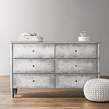 Storage Furniture - Ava Wide Dresser I RH Baby and Child - mirrored dresser, mirrored kids dresser, antiqued mirrored dresser,