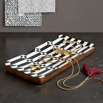 Decor/Accessories - Pinwheel Geo Tray | West Elm - bone inlay tray, bone inlaid catchall, bone inlaid jewelry tray,